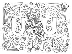 Unitarian Universalist UU + 7 page to color Image courtesy Jennie Freiberger