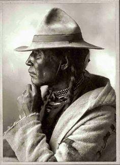 "Chief Peepeechis ""Chief Little Bone"". Cree. 1884. Source - University of Saskatchewan Archives."