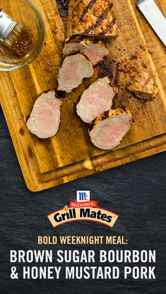 Say 'goodbye' to bland pork with this mix of sweet, spicy and tangy flavors from French's® Honey Mustard and Grill Mates® Brown Sugar Bourbon Marinade. Marinate pork tenderloin and hit the grill for a bold weeknight meal packed with flavor. Pork Tenderloin Recipes, Pork Chop Recipes, Pork Roast, Grilling Recipes, Meat Recipes, Chicken Recipes, Cooking Recipes, Pork Loin, Cooking Tips