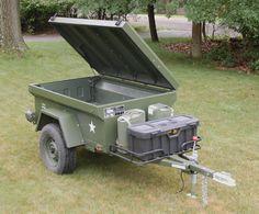 Bolt-together fiberglass Jeep-tub trailer kit - Page 186 Teardrop Camper Trailer, Off Road Camper Trailer, Trailer Tent, Camper Trailers, Jeep Camping Trailer, Jeep Wrangler Yj, Jeep Tj, Jeep Willys, Off Road Camping