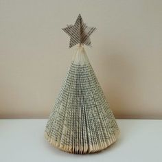 Book Art Christmas Tree available at www.creatoncraftsandgifts.co.uk