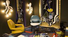 Le Bon Marché Paris windows by French interior designer Vincent Darré and Poltrona Frau Interior Design Kitchen, Interior Design Living Room, Arch Decoration, Paint Colors For Living Room, Room Paint, Luxury Store, Comic, Sustainable Design, Retail Design