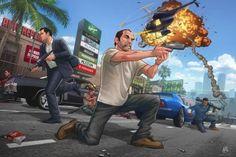 GTA 5 Franklin, Micheal and Trevor Grand Theft Auto 5, Grand Theft Auto Series, Gta Online, San Andreas, Clash Royale, Patrick Brown, Gta V Ps4, Trevor Philips, Comics