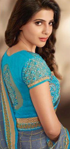 Black and Grey color family Bollywood sarees . Samantha In Saree, Samantha Ruth, Sonam Kapoor, Deepika Padukone, Samantha Images, Babe, Bollywood Saree, Bollywood Girls, Bollywood Actress