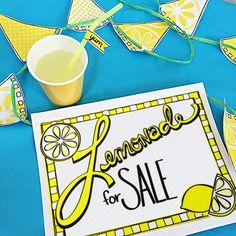 Printable Lemonade Stand Kit designed by Jen Goode