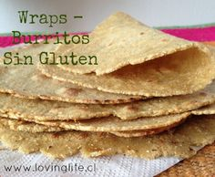Tortillas sin gluten de diferentes harinas