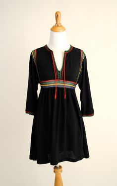Vintage ethnic knit tunic.   Taking this to spain with me.