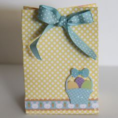 Candy bag made using Archiver's exclusive Hello Spring value pack by Doodlebug Design and the Gift Bag Punch Board.
