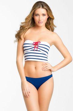 Have some Memorial Day spirit in his Ralph Lauren swimsuit combo!