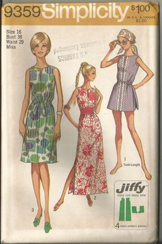 1971 Simplicity Pattern 9359 Jiffy Sun Dress by TheIDconnection, $22.00