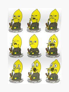 """Unacceptable Lemongrab"" Poster by plushism Tatuagem Adventure Time, Adventure Time Tattoo, Adventure Time Anime, Adventure Time Characters, Cartoon Network Adventure Time, Adventure Time Wallpaper, Adventure Time Background, Clarence Cartoon Network, Tatuagem Old School"