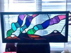 Northern Lights Stained glass