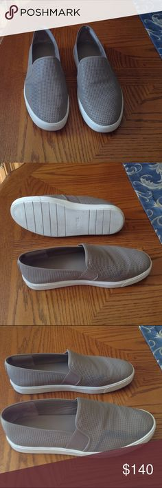 Worn Once! Vince Slip-On Sneaker These were purchased 2 weeks ago (still have receipt).  Very comfortable but I just don't need them and I'm trying to downsize.  Leather sneaker by Vince. These run true to size (10M) Vince Shoes Sneakers