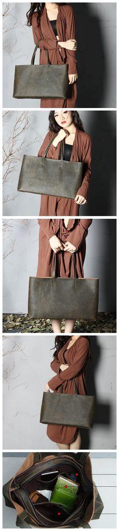 Genuine Soft Buffalo Leather Tote Elegant Shopper Shoulder Bag Women's Leather Bag Leather Goods For Women