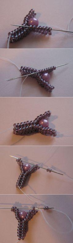 Бусина, вплетеная в жгут ндебеле | biser.info - всё о бисере и бисерном творчестве Wire Jewelry, Jewelry Crafts, Jewelry Art, Jewelry Design, Beaded Rings, Beaded Necklace, Beaded Bracelets, Beading Tools, Beading Tutorials