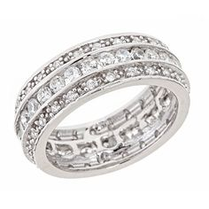 Eva's Triple Row Wedding Band Ring