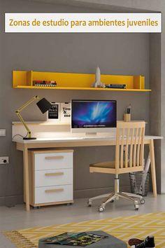 Kids Furniture, Furniture Design, Home Office Design, Ideas Para, Office Desk, Corner Desk, Room Decor, Bedroom, Wood