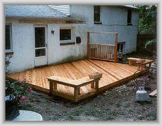 Building A Ground Level Deck Plans                              …