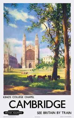 Cambridge King's College Chapel Railway Posters2