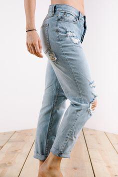 Free People: Lacey Stilt Jean in Ella Blue
