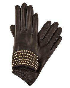 Portolano Women's Leather Black Gloves