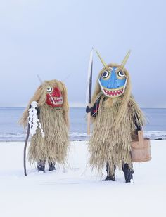 folkhorrorrevival: Photos by Charles Freger of Japanese Yokai. Arte Tribal, Tribal Art, Folklore Japonais, Charles Freger, Costume Ethnique, Scary Monsters, Akita, Wearable Art, Folk Art