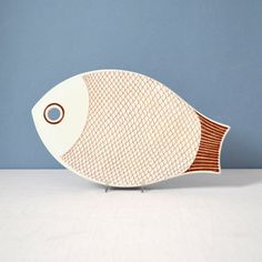 Vintage Kaarina Aho Fish Trivet, Tray for Arabia of Finland