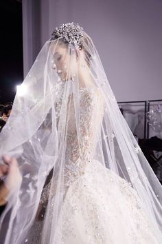 Star diamond Fall Wedding Dress