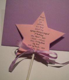 Invite ideas for Fairy/ princess birthday.