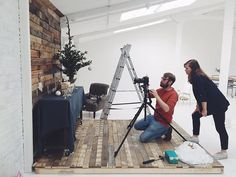 Here's another peek behind the scenes of yesterday's shoot! Our photographer @lee_garland and Director, Lyndsey working together on creating the perfect Christmas image for our homepage! #photoshoot #Christmas #xmas #behindthescenes #interiors #interiorstyling