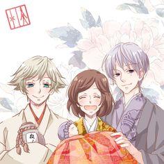Mizuki, Nanami, baby & Tomoe - human form