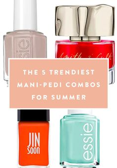 The 5 Trendiest Mani-Pedi Combos for Summer #purewow #beauty #tip #nails #nail polish #nail care