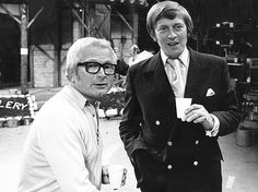 Producer and writer David Croft (left) and writer and co-creator of 'Dad's Army' Jimmy Perry (seen here on the set of another of their wartime sitcoms, 'It Ain't Half Hot, Mum') in 1973.