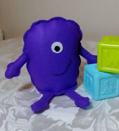 Monster Felt Toy Mini Monster Friendly Monster by DaisyFelts