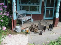 Poet Anne Spencer's gardening tools and boots in front of her little cottage. Norton Anthology, Spencer House, American Poetry, Garden Tools, Places To Visit, Patio, Farming, Homestead, Outdoor Decor