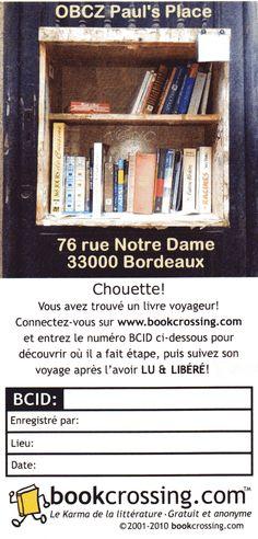 Une OBCZ est une Official BookCrossing Zone, une Zone officielle du BookCrossing. Une boîte /étagère pour échanger des livres. Laissez un livre et prenez un autre!
