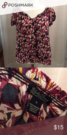 🌺Lucky Brand top🌺 Beautiful top with multi colors! Lucky Brand Tops Blouses