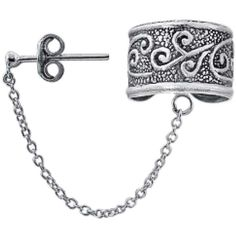 Bling Jewelry Ears To Tribal Cuff ($13) ❤ liked on Polyvore featuring jewelry, earrings, ear cuff, accessories, ear-cuffs, grey, chain ear cuff, celtic ear cuff, ear cuff jewelry and sterling silver jewelry