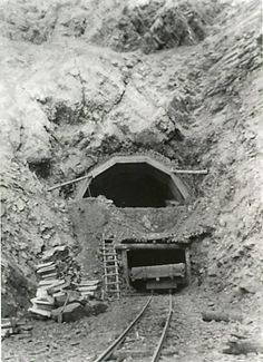 Construction of Tunnel #8 on the KVR Railway on the Coquihalla in 1915