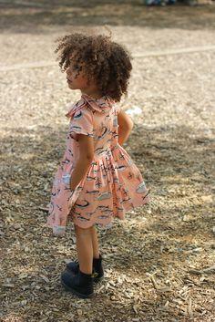London wearing  Mon Tresor Print Dress