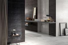 Modern black tile ba