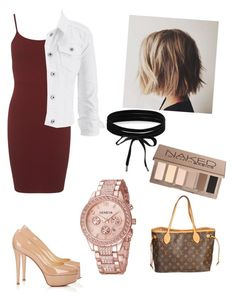"""Untitled #75"" by sarajordan2993 on Polyvore featuring Christian Louboutin, Miss Selfridge, maurices, Boohoo, Urban Decay and Louis Vuitton"