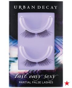 Get the glamorous look of false lashes without the hassle and artificial look of some full sets. Urban Decay Fast Easy Sexy Partial False Lashes amp up your look with almost zero effort. Each lash is handmade with cruelty-free synthetic hair, so there's no guilt for your sexy, come-hither look.