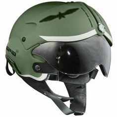 Fighter pilot style motorcycle helmet - Grease n Gasoline