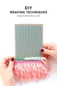The best DIY projects & DIY ideas and tutorials: sewing, paper craft, DIY. Diy Crafts Ideas DIY: Weaving Technique Break Down -Read Weaving Textiles, Tapestry Weaving, Loom Weaving, Weaving Projects, Craft Projects, Yarn Crafts, Diy Crafts, Weaving Wall Hanging, Wall Hangings