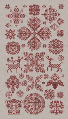 $16 Through The Bitter Frost & Snow - 37 Christmas Ornaments - Instant Download PDF Booklet