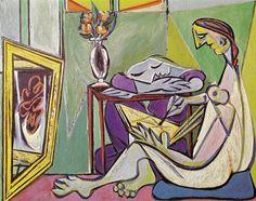 "Happy Birthday to Pablo Picasso!"" - Pablo Picasso La Muse x oil on canvas 1935 Centre Pompidou, Paris, France Pablo Picasso, Kunst Picasso, Art Picasso, Picasso Paintings, Art Paintings, Cubist Movement, Georges Braque, Spanish Painters, Edgar Degas"