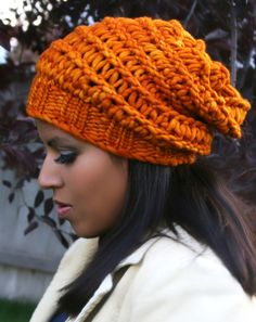 Knitting Loom ~ Autumn Slouchy Hat ~ Free Pattern