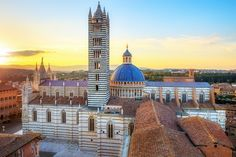 Siena, Tuscany, Italy - The Duomo of Siena, one of the highest expressions of Romanesque-Gothic art, abounding in sculptures, paintings and works of architecture. (via Italia.it)