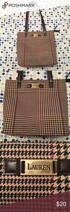 Vintage Ralph Lauren Purse This vintage Ralph Lauren purse is in good condition. There is some fraying pictured above. The straps are also a little stiff. The Lauren logo shows a little wear pictured above. No noticeable stains. It has a couple of pockets on the inside. I would consider this Purse medium sized. Exact measurements available upon request. Ralph Lauren Bags Shoulder Bags